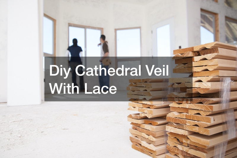 Diy Cathedral Veil With Lace