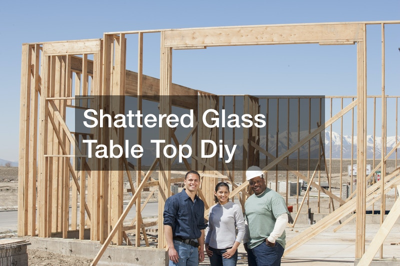 Shattered Glass Table Top Diy